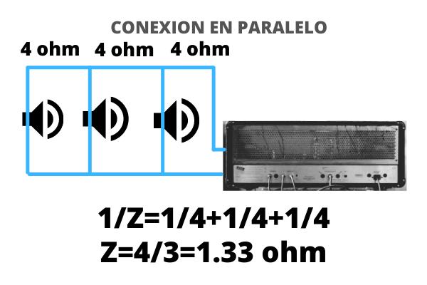 altavoces en paralelo